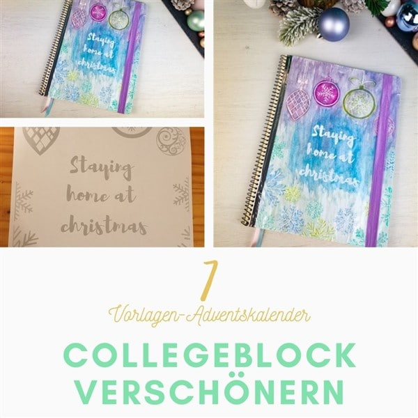 Bastelvorlagen-Adventskalender Türchen 7: Back to school DIY – Collegblock verschönern