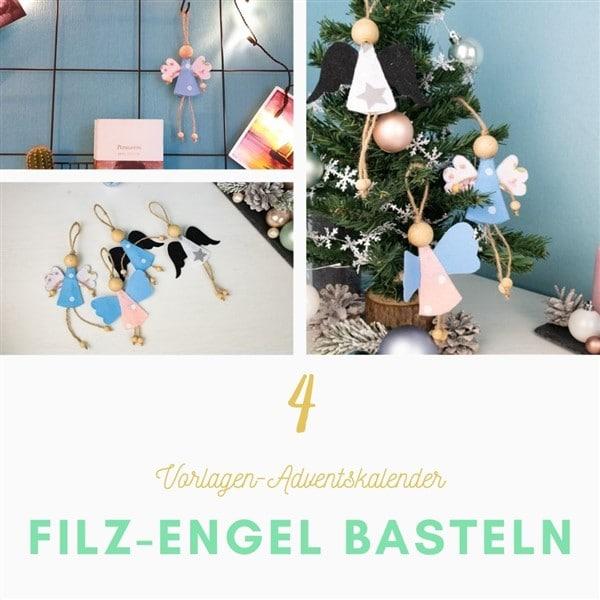 Bastelvorlagen-Adventskalender Türchen 5: Baumschmuck basteln – Mini-Adventskränze aus Karton