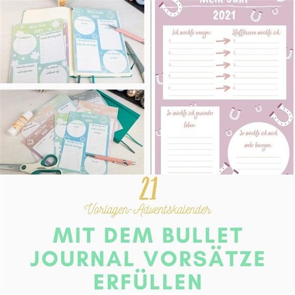 Bastelvorlagen-Adventskalender Türchen 21: Mit dem Bullet Journal Ziele und Vorsätze erfüllen - 11 Ideen und Tipps