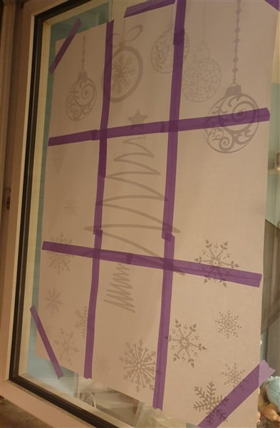 Fensterbilder mit Kreidemarker