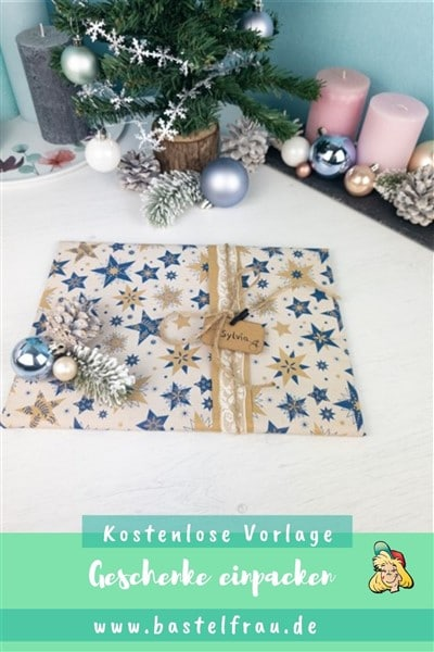 Weihnachtsgeschenke einpacken mit kostenlosen Geschenkanhängern