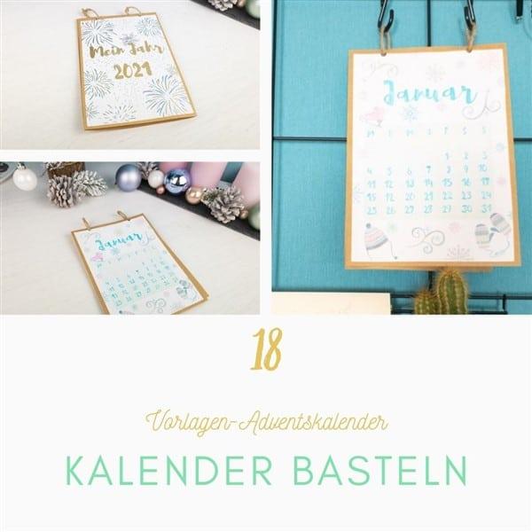 Bastelvorlagen-Adventskalender Türchen 18: Kalender basteln