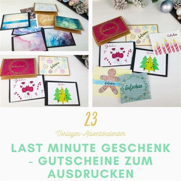 Last Minute Weihnachtsgeschenk: Gutschein basteln