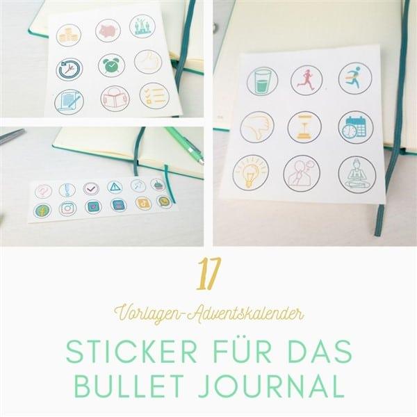 Sticker für das Bullet Journal zum Ausdrucken