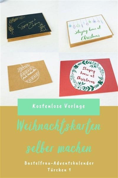 Weihnachtskarten basteln Vorlagen