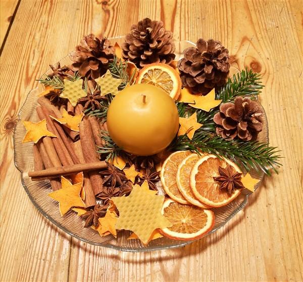 Duftteller mit Weihnachts Potpourri