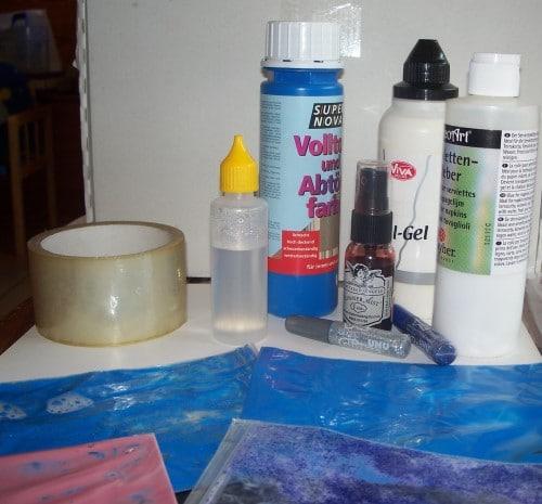 Bastelmaterial für Ziplock-Malereien
