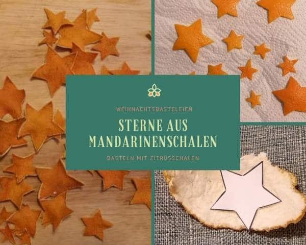 Sterne aus Mandarinenschalen