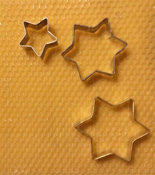 Sterne aus Bienenwachswaben