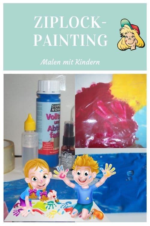 Bastelidee für Malen ohne Kleckern mit Maltüten für Kleinkinder