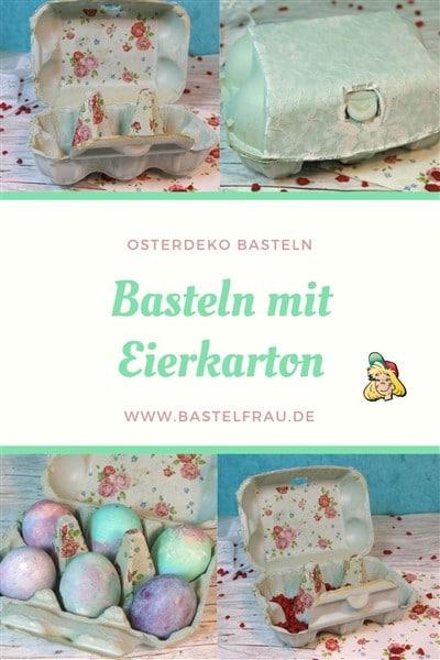 Osternest basteln mit Eierkarton