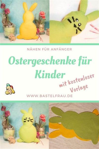 Ostergeschenke für Kinder - Osterfilzhasen nähen für Ostern
