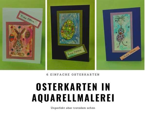 Osterkarten in Aquarellmalerei