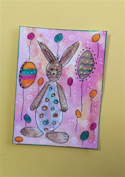 Osterkarte in Aquarellmalerei
