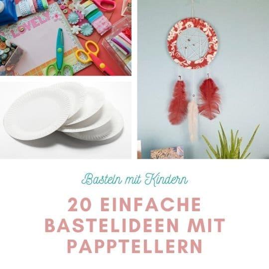 Pappteller basteln mit Kindern / 20 einfache Bastelideen Corona