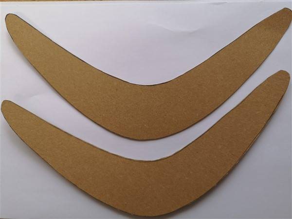 Bumerang aus Papier