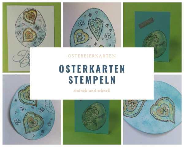 Gestempelte Osterkarten
