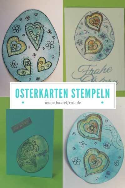 Osterkarten stempeln