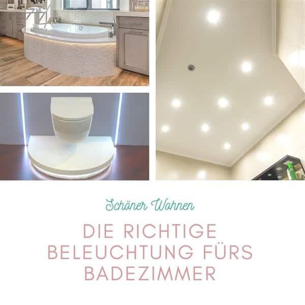 Die richtige Beleuchtung fürs Badezimmer