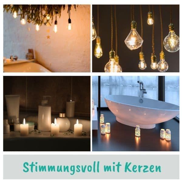 Romantische Badezimmer Beleuchtung