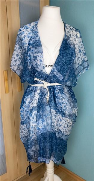 Schal Thrift Flip: Strandkleider nähen: Strandkaftan aus einem Schal