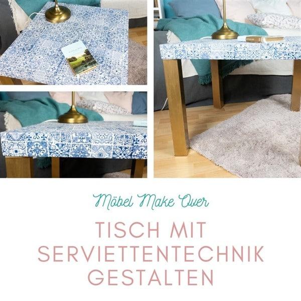 Möbel Make Over: Tisch mit Servietten umgestalten