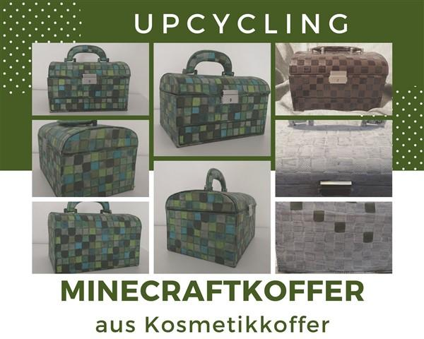 Minecraft-Bastelei aus altem Kosmetikkoffer