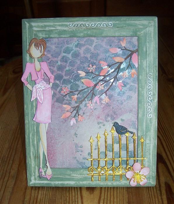 Collage mit Prima Doll (Julie Nutting)