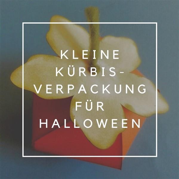 Kleine Kürbisverpackung für Halloween